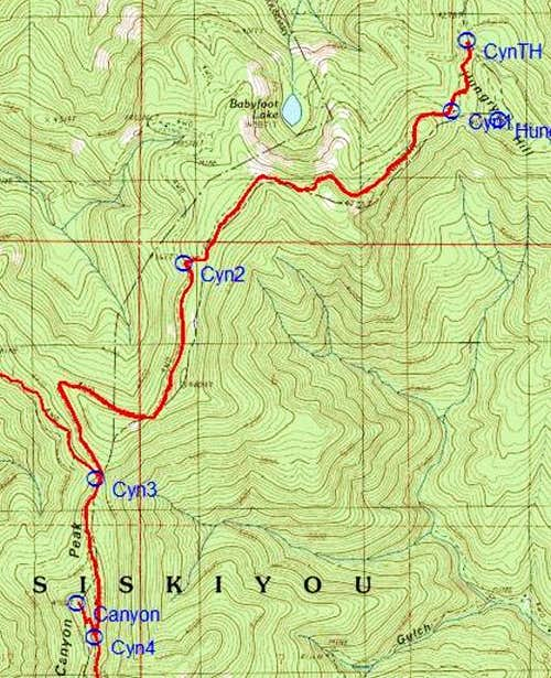 Babyfoot Lake Trailhead