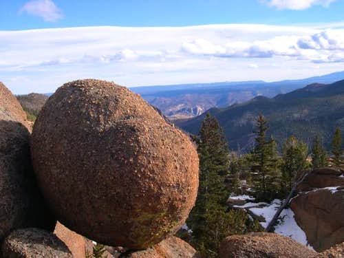 Teetering boulders are a...