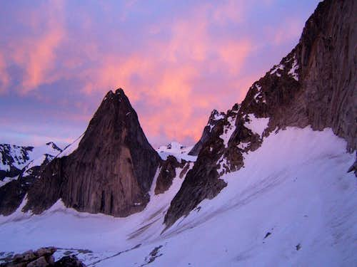 Sunrise in the Bugaboos