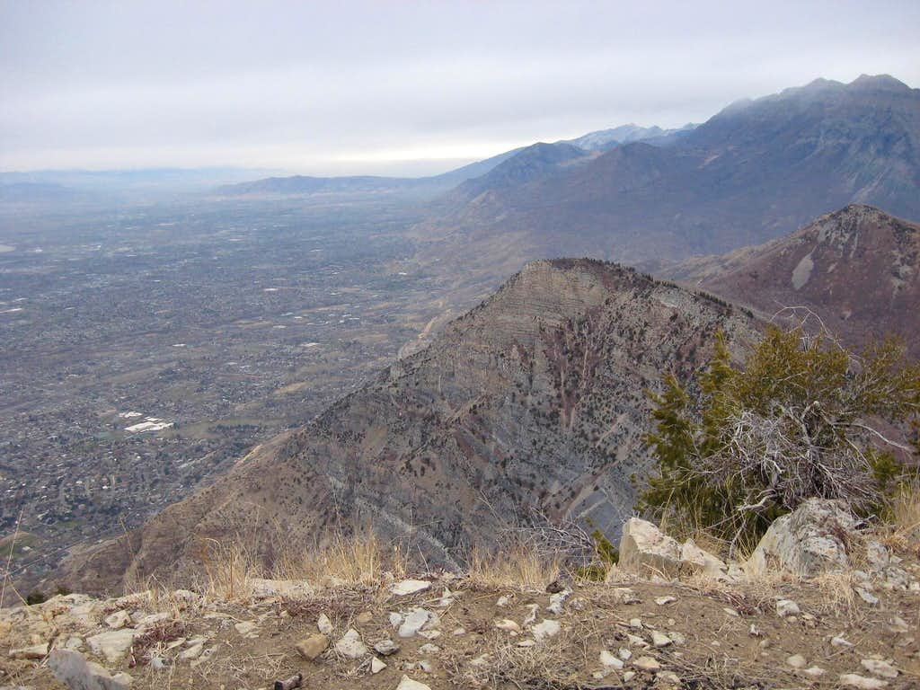 View from east summit