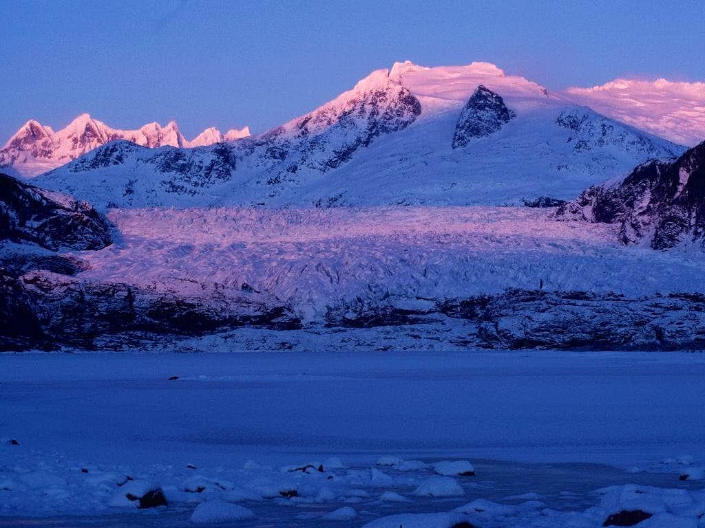 Mendenhall Glacier alpenglo
