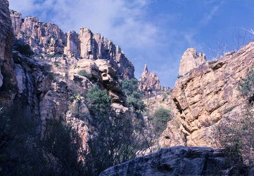 View up Finger Rock Canyon