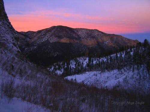 Fletcher Peak after sunset