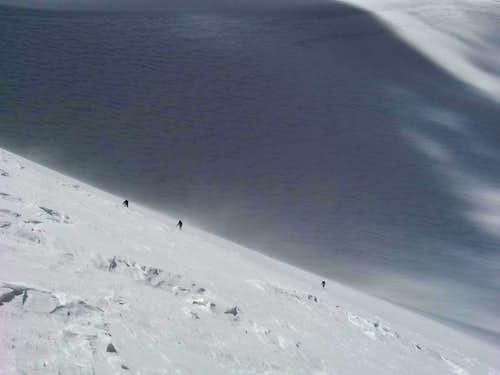 Climbers on W face (NE peak)