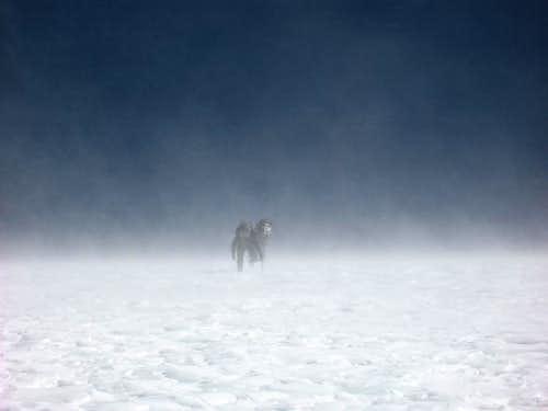 In snowdrift at 6100 meter