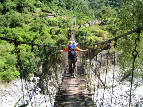 Crossing the Gnach Khola