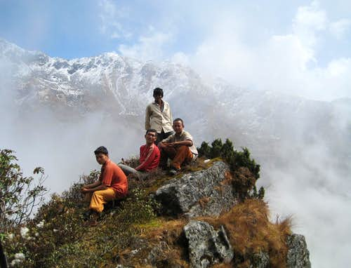 Porters <i>en route</i>  to Camp 5