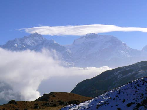 Merged Lenticular over Manaslu