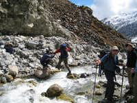 Crossing the Miyardi Khola