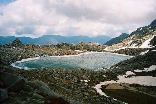 Lac de Bastani (2089m) at the...