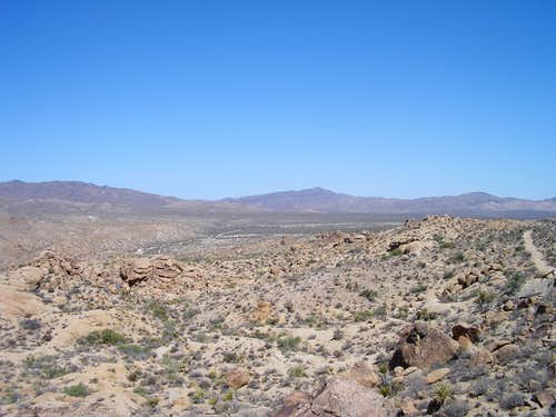 Looking back towards Cottonwood Spring Campground