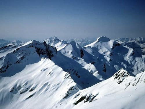 scenery from the summit in...