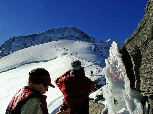 At the start of Kaindlgrat.