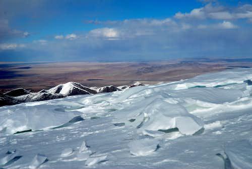 View from Toze Kangri NE ridge