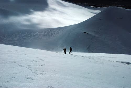 Descent from Toze Kangri NE peak