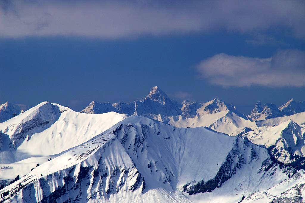 Faraway view Lechquellengebirge