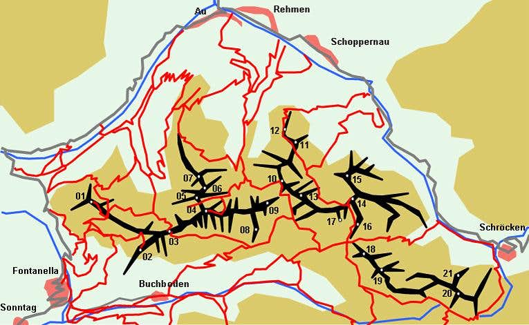 Schematic Map of the Zitterklapfen Group
