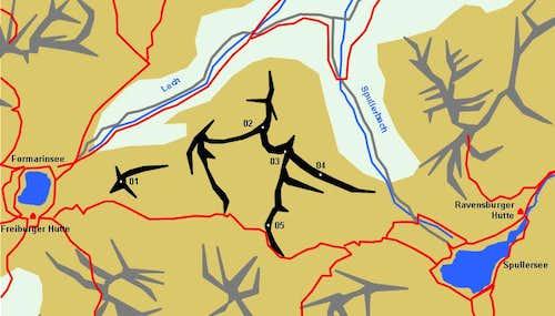 Schematic Map of the Gehrengrat Group