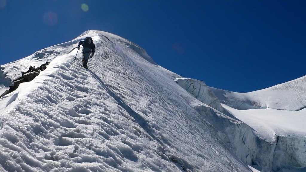 Josef on the ice ridge