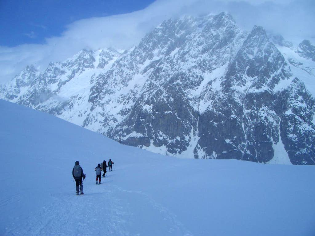 In the sight of Grandes Jorasses