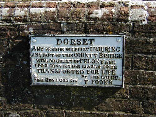 Dire warning on a Dorset bridge