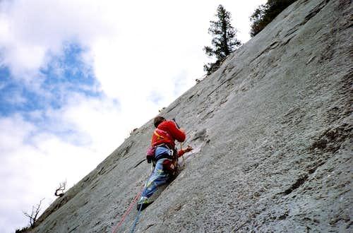 This ain't sport climbing!