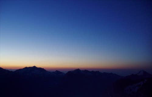 Dawn from the Nadelhorn