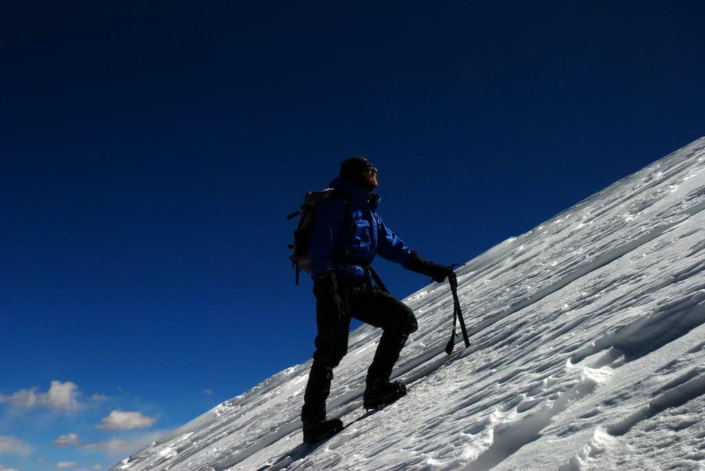 Up on Tagchagpuri summit pyramid