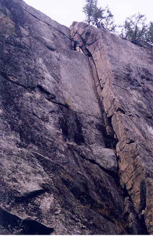 Climbing near Kenora, ON