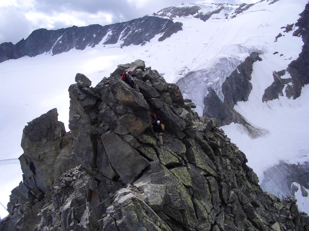 During the traverse