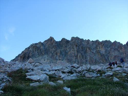 Lézat, South face