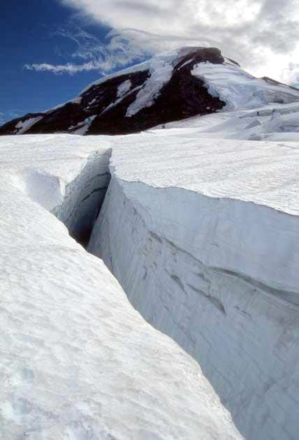 Large crevasses and sudden...