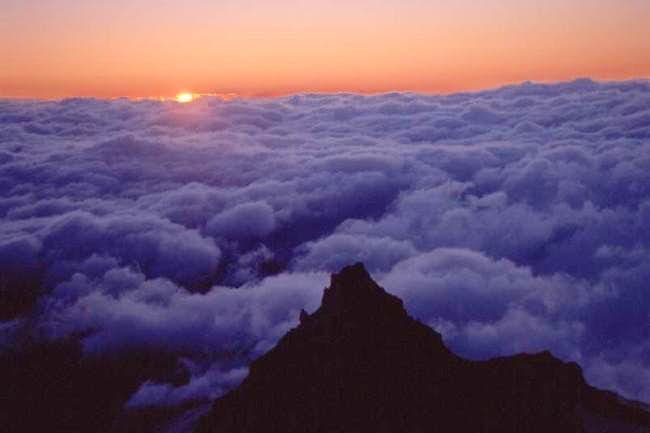 Rainier's Little Tahoma peak...