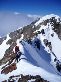Descending from the summit of Vignemale