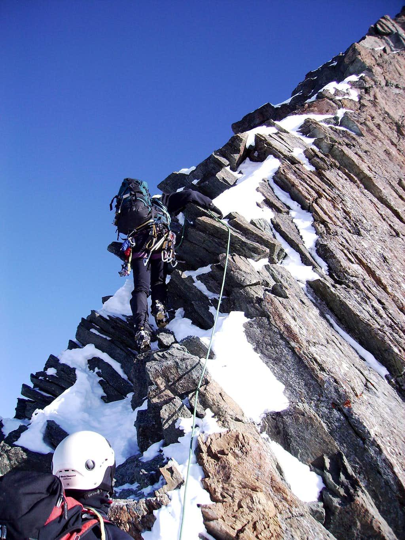 At the NW-ridge