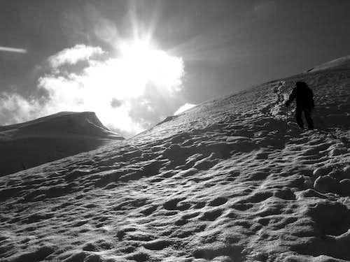 Climbing Weissmies