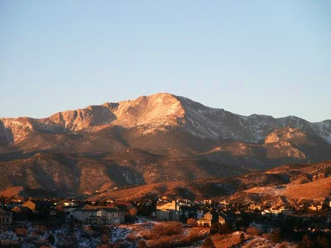 Pikes Peak at sunrise from my...