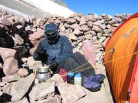 Aconcagua - Cooking at high camp