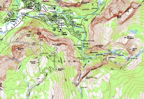 Map Extract for Glacier Point
