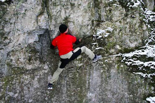 Bouldering...