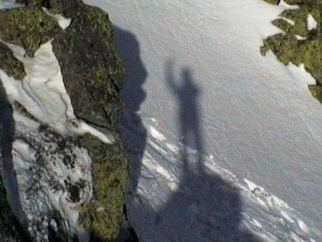 My shadow says hello.December...