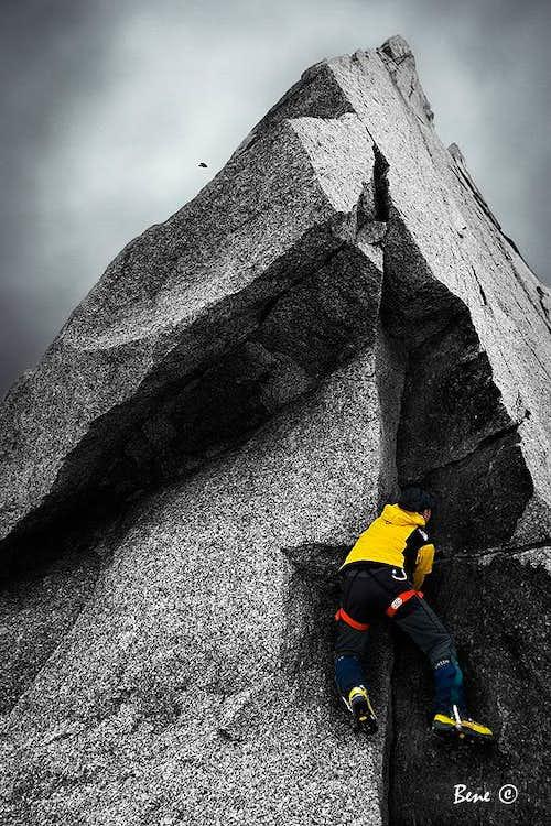 Boulder in Aguille du Midi