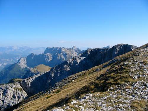 The ridge ...