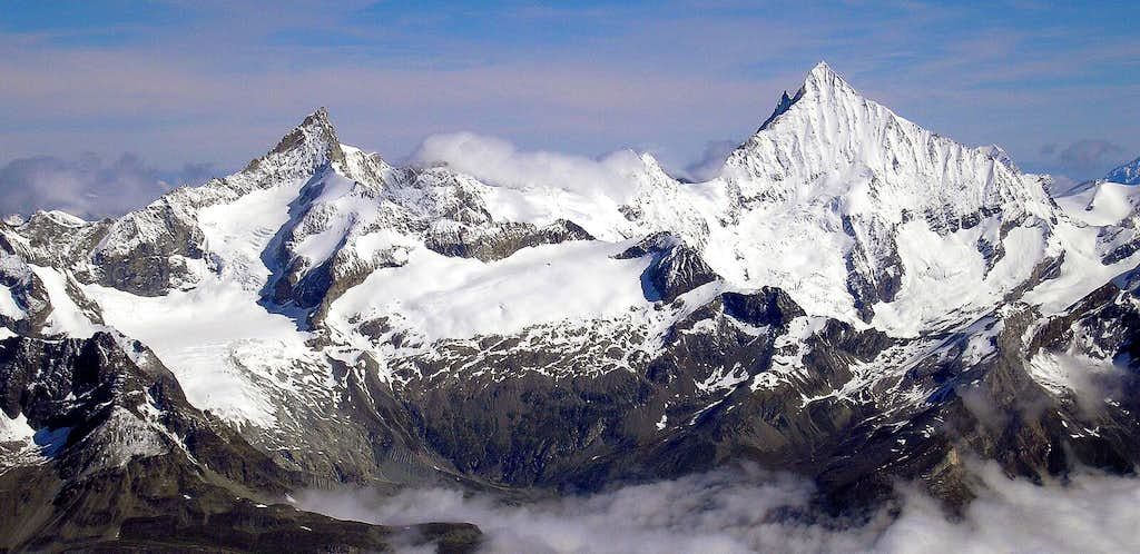 Zinalrothorn and Weisshorn
