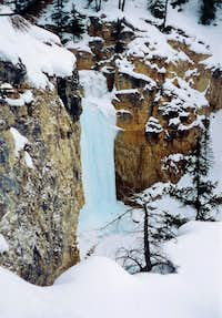 Middle Pitch of Sunwapta Falls - Right Drainage