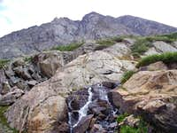North face of Quandary Peak from McCullough Gulch falls