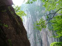 Virgin cracks in Huangshan