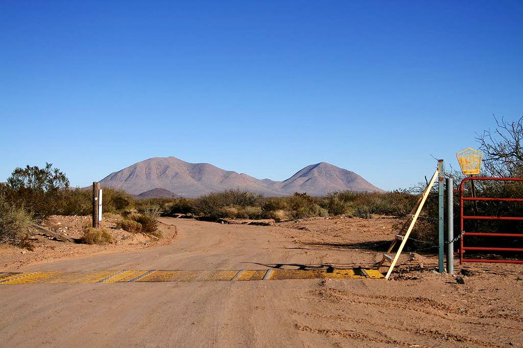 County Road A-005 to Greater Potrillo Mountains Complex