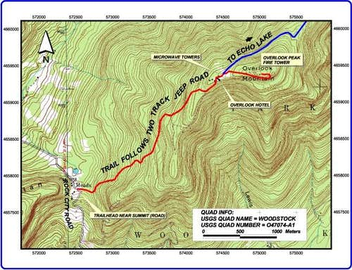 Overview of the trail from...