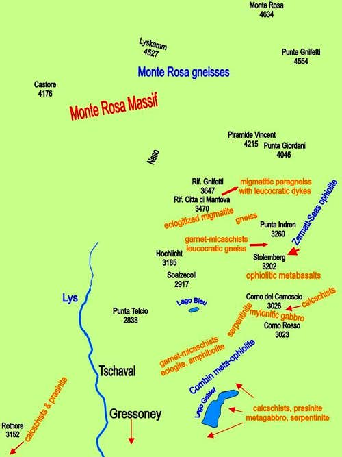 Geology of Monte Rosa Massif